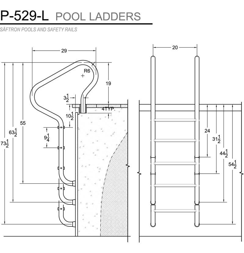 Saftron Camelback 3-Step Pool Ladder
