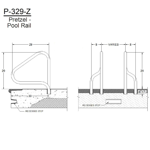Innovative Pool Products Pool Rails Saftron Returntodeck Model