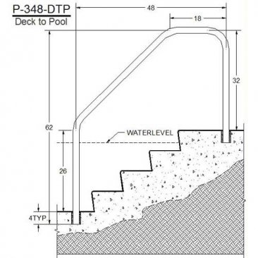 DTP-348 Pool Rails Measurements