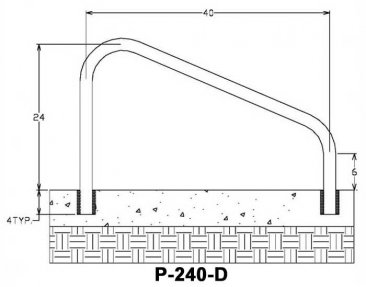 DR-240 Pool Rail Measurements