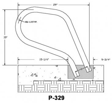 P-329 Pool Rails and Spa Rail Measurements