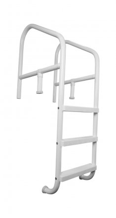 Saftron 4-Step Commercial Pool Ladder, 24-inches Wide